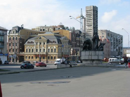 Вид на Киев возле набережной
